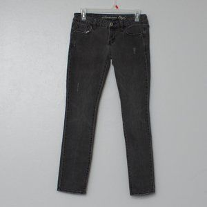 American Eagle stretch skinny faded black jeans